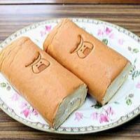 ロールケーキに焼印