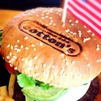 ハンバーガーに焼印